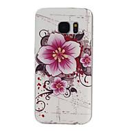 teste padrão de flores TPU material de telefone para Samsung Galaxy S7 edge / s7