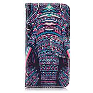 Voor Samsung Galaxy S7 Edge Portemonnee / Kaarthouder / met standaard / Flip hoesje Volledige behuizing hoesje Olifant PU-leer SamsungS7