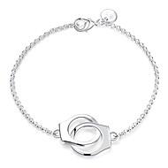 Dame Kæde & Lænkearmbånd Charm-armbånd Mode Sølv Plastik Medaljon Sølv Smykker For Bryllup Fest 1 Stk.
