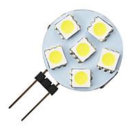 g4 1.2w 6-conduit 5050 ampoule forme ronde LED blanc chaud