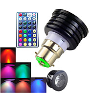 4W B22 LED Spot Lampen MR16 1 High Power LED 300 lm RGB Dekorativ / Dimmbar / Ferngesteuert AC 100-240 V 1 Stück