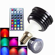 1 Stück SchöneColors Dimmbar / Ferngesteuert / Dekorativ LED Spot Lampen MR16 E14 4W 300 LM RGB K 1 High Power LED RGB AC 100-240 V