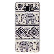 For Samsung Galaxy etui Mønster Etui Bagcover Etui Elefant TPU for Samsung A5(2016) A3(2016)