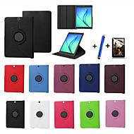 Pro se stojánkem / Flip / Rotace o 360° Carcasă Oboustranný Carcasă Jednobarevné Pevné PU kůže Samsung Tab S2 9.7 / Tab S2 8.0