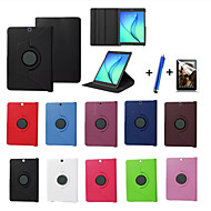 Voor met standaard / Flip / 360° rotatie hoesje Volledige behuizing hoesje Effen kleur Hard PU-leer Samsung Tab S2 9.7 / Tab S2 8.0