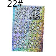 1 sheet Mixed Metallic Design Nail Art Hollow Sticker 3D Decal Manicure Decoration Accessories STZ-K22/23/24 (01-24)