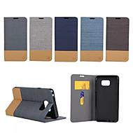 Mert Samsung Galaxy Note Kártyatartó / Állvánnyal / Flip Case Teljes védelem Case Vonalak / hullámok Műbőr Samsung Note 5 / Note Edge