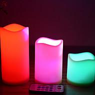 bougies LED fixées pour l'anniversaire fête de noël trois bougies et un contrôleur