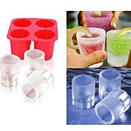 kop skimmel is DIY popper skimmel popsicle forme yoghurt is boks køleskab frosne godbidder fryser (ramdon farve)
