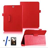 Für mit Halterung / Flipbare Hülle / 360° Drehbar Hülle Handyhülle für das ganze Handy Hülle Einheitliche Farbe Hart PU - Leder Samsung