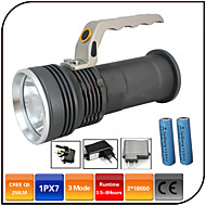 Lights LED Flashlights/Torch LED 1000 Lumens 3 Mode - 18650 Waterproof Rechargeable Impact ResistantCamping/Hiking/Caving Everyday Use