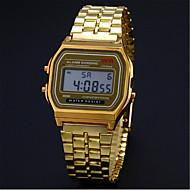 Mode-Modelle ohne Markierung Gold und Silber Licht F91W ultra-dünnen LED elektronische Uhr