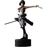 애니메이션 액션 피규어 에서 영감을 받다 Attack on Titan Mikasa Ackermann PVC 14 CM 모델 완구 인형 장난감