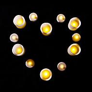 12 pcs conduit bougies fixées pour l'anniversaire de fête de noël 6 petits 6 grandes bougies
