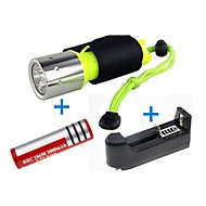 Torce LED LED 1 Modo 2000 Lumens Impermeabili / Resistente agli urti / Alta intensità / Compatta / Emergenza Cree XM-T6 L2 18650