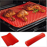 rosso piramide padella antiaderente da forno in silicone stampo mat cottura mat teglia da forno
