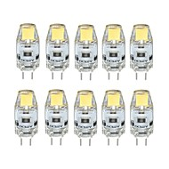 10pcs Dimmable G4 2W 0705 RA>80 180LM 3000K/6000K Warm White/Cool White Light Lamp Bulb(DC12V)