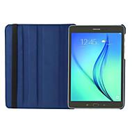 För Samsung Galaxy-fodral med stativ Lucka 360-graders rotation fodral Heltäckande fodral Enfärgat PU-läder för Samsung Tab S2 8.0