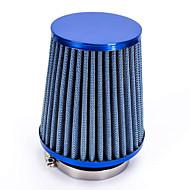 """vervanging 76mm 3 """"plastic slangklem conische mesh auto luchtinlaat filter blauw"""