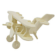 Jigsaw Puzzles 3D Puzzles / Wooden Puzzles Building Blocks DIY Toys Aircraft Wood Beige Model & Building Toy