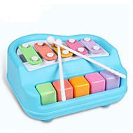 gitar form musikk leketøy for barn plast rød / hvit / blå / gul