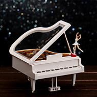 klaver form til elise musik plastboks hvid / guld