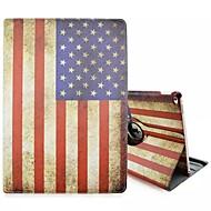 speciale ontwerp noviteit de Amerikaanse vlag pu lederen folio case holster 360⁰ case voor de iPad pro