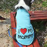 猫用品 / 犬用品 Tシャツ オレンジ / ブルー / ピンク / グレー 犬用ウェア 夏 / 春/秋 文字&番号 ファッション