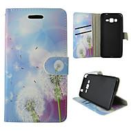 For Samsung Galaxy etui Kortholder Pung Med stativ Flip Etui Heldækkende Etui Mælkebøtte Kunstlæder for SamsungTrend Duos J5 J1 Grand