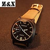 YAZOLE Muškarci Ručni satovi s mehanizmom za navijanje Kvarc Koža Grupa Crna Smeđa Crn Braon