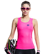 SANTIC® サイクリングベスト 女性用 ノースリーブ バイク 高通気性 / 速乾性 / 抗紫外線 / バクテリア対応 ベスト / タンクトップ / ジャージー / Tシャツ / トップス エラステイン ゼブラプリント 夏 サイクリング/バイク / ランニング