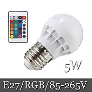 1pcs Ding Yao E27 5W 6LED SMD 5050 500lm RGB Recessed Retrofit Remote-Controlled / Decorative LED Globe Bulbs AC 85-265V