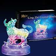 Jigsaw Puzzles 3D Puzzles / Crystal Puzzles Building Blocks DIY Toys Bull 43 ABS Transparent Model & Building Toy