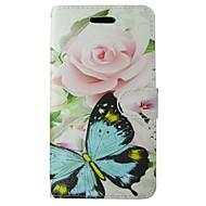 Taske til samsung galaxy s7 s8 pink rose sommerfugl blomst fuld krops cover med kort og stativ taske til s4 s3 s3 mini s6 s6 kant