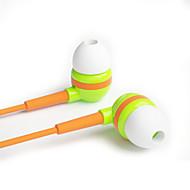 에 대한 귀 스테레오 음악 아이리버는 BWC-30E 혼색 헤드폰 3.5mm의 아이폰 5 / 아이폰 6 플러스 (모듬 색상)