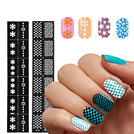 2016 New 1pcs Reusable Stamping Tool DIY Nail Art Hollow Template Stickers Stencil Guide 24 Styles Options
