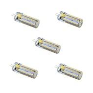 5 kpl NO G4 5W 81 SMD 3014 300 lm Lämmin valkoinen / Kylmä valkoinen T Himmennettävä LED Bi-Pin lamput DC 12 / AC 12 V
