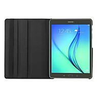 For Samsung Galaxy Case with Stand / Flip / 360° Rotation Case Full Body Case Solid Color PU Leather Samsung Tab S2 9.7
