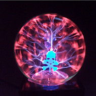 magic glass plasma ball sfære hodeskalle 4-tommers elektronisk magi ball kreativt håndverk ornamenter bursdagsgave for barn