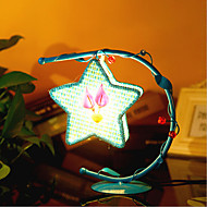 Creative Pentagram Lamp Bedroom Bedside Lamp Lighting Lamps of European Romantic Personality Gift(Assorted Color)