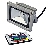 10W 1 Integrate LED LM RGB Remote-Controlled LED Flood Lights AC 85-265 V