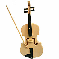 Jigsaw Puzzles 3D Puzzles / Wooden Puzzles Building Blocks DIY Toys Violin Wood Beige Model & Building Toy