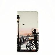 Για Samsung Galaxy Θήκη Θήκη καρτών / με βάση στήριξης / Ανοιγόμενη / Με σχέδια / Μαγνητική tok Πλήρης κάλυψη tok Θέα της πόληςΣυνθετικό