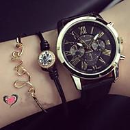 Dames Modieus horloge Armbandhorloge Kwarts PU Band Zwart Wit Groen Roze Wit Zwart Groen Roze