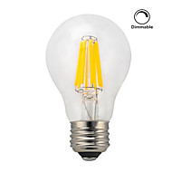 1 pcs kwb E26/E27 8W 8 COB 750 lm Warm White A60(A19) edison Vintage LED Filament Bulbs AC 220-240 V Dimmable