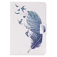 Feather Pattern PU Leather Case with Stand and Card Holder for iPad Mini 4