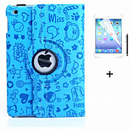 360 Degree Novelty PU Leather Flip Cover Case for iPad 4/3/2 +Screen Protector Film Stylus Pen(Assorted Colors)