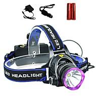 Iluminación Linternas de Cabeza LED 2000 Lumens 3 Modo Cree XM-L T6 18650.0Enfoque Ajustable / A Prueba de Agua / Recargable / Resistente
