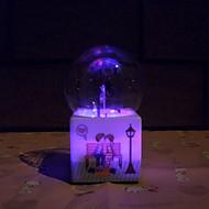 cadeau d'anniversaire de jour de violon motif lumineux boule de cristal boîte à musique créative personnalité eau pulvérisée romantique