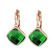 Kolczyki wiszące Kryształ Cyrkonia Stop Geometric Shape Orange Green Biżuteria Na 2pcs